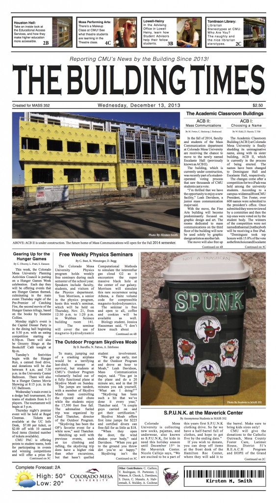 K Smith Final Newspaper Layout