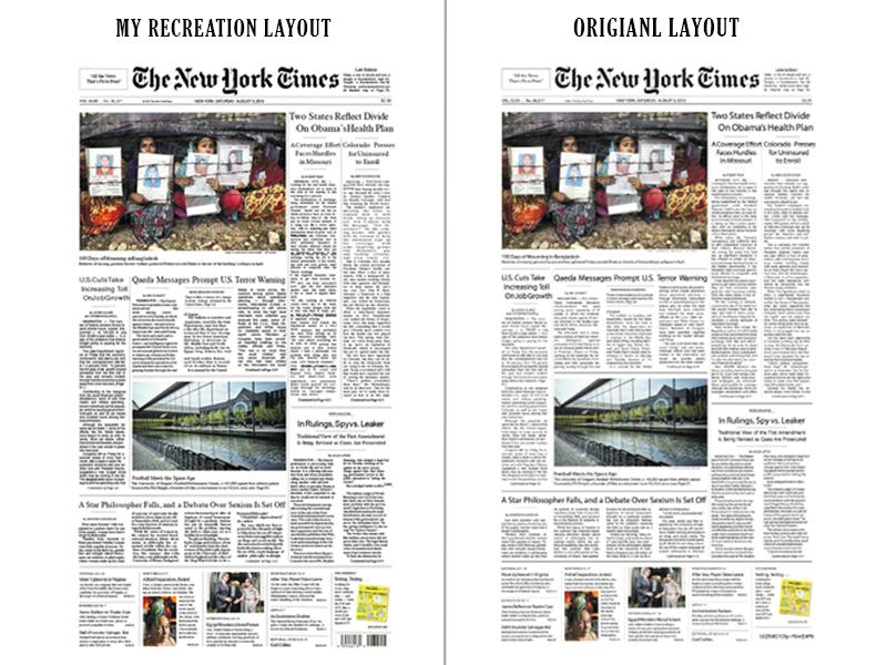 NY TIMES LAYOUT